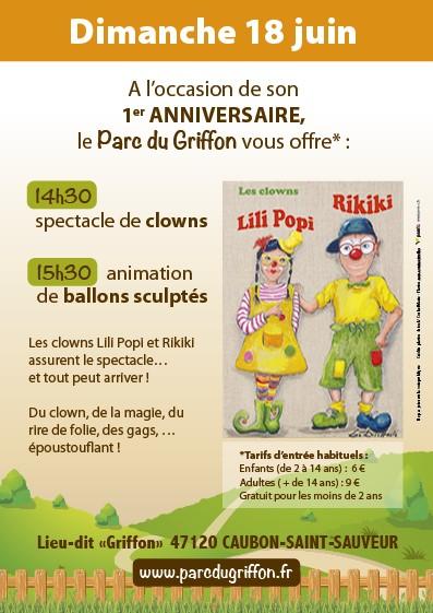 Anniversaire 1 an - Clowns et Ballons sculpté